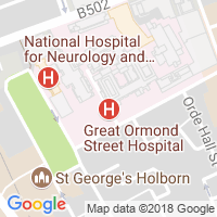 Location of Great Ormond Street Hospital